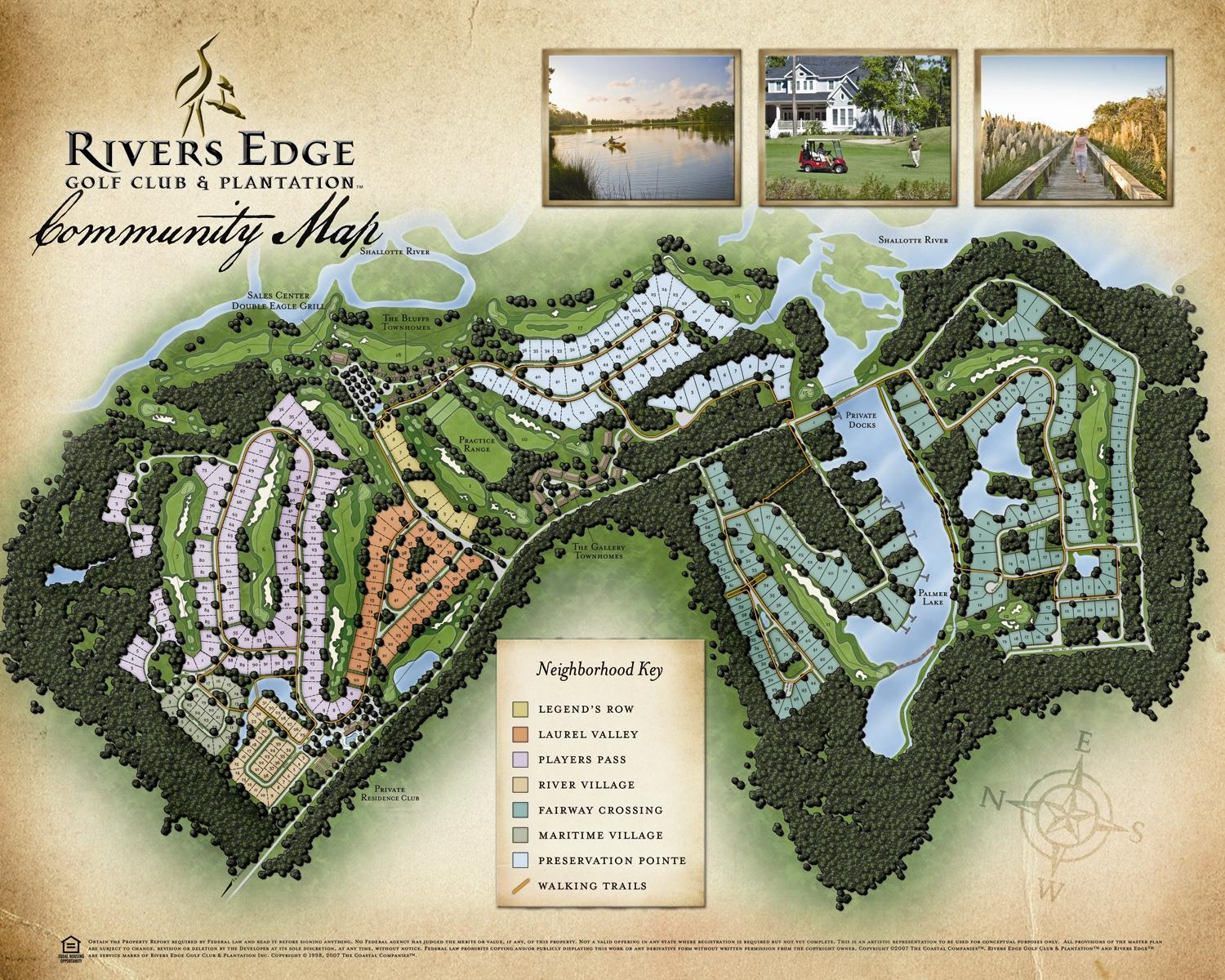 Rivers Edge Plantation Map